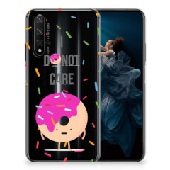 Honor 20 Siliconen Case Donut Roze