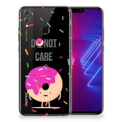 Honor 8X Siliconen Case Donut Roze