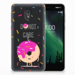 Nokia 2 Siliconen Case Donut Roze