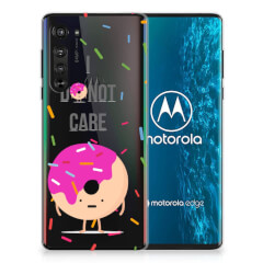 Motorola Edge Siliconen Case Donut Roze