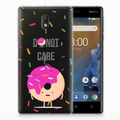 Nokia 3 Siliconen Case Donut Roze