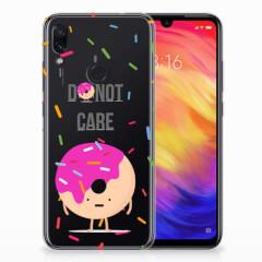 Xiaomi Redmi Note 7 Pro Siliconen Case Donut Roze