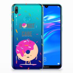 Huawei Y7 2019 Siliconen Case Donut Roze