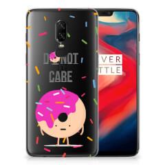 OnePlus 6 Siliconen Case Donut Roze