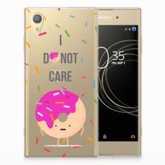 Sony Xperia XA1 Plus Siliconen Case Donut Roze