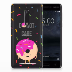 Nokia 5 Siliconen Case Donut Roze