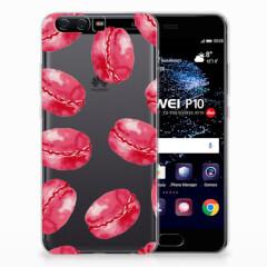 Huawei P10 Siliconen Case Pink Macarons