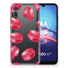Motorola Moto E6s Siliconen Case Pink Macarons