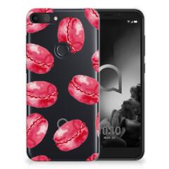 Alcatel 1S (2019) Siliconen Case Pink Macarons
