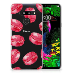 LG G8 Thinq Siliconen Case Pink Macarons