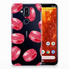 Nokia 8.1 Siliconen Case Pink Macarons