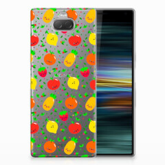 Sony Xperia 10 Plus Siliconen Case Fruits