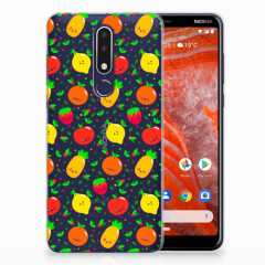 Nokia 3.1 Plus Siliconen Case Fruits