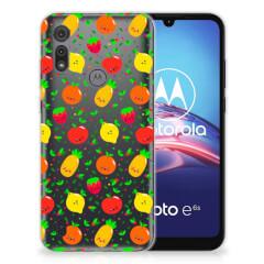 Motorola Moto E6s Siliconen Case Fruits