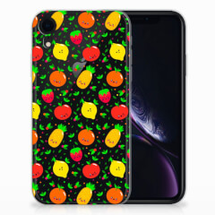 Apple iPhone Xr Siliconen Case Fruits