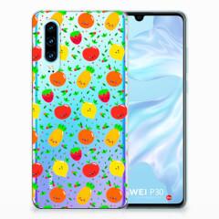 Huawei P30 Siliconen Case Fruits