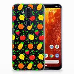 Nokia 8.1 Siliconen Case Fruits