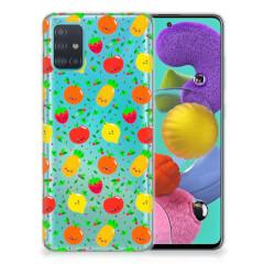 Samsung Galaxy A51 Siliconen Case Fruits