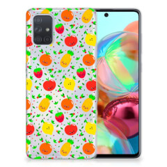 Samsung Galaxy A71 Siliconen Case Fruits