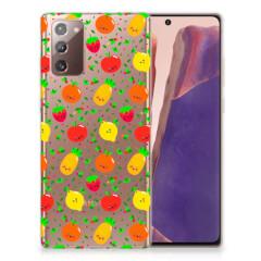 Samsung Note 20 Siliconen Case Fruits