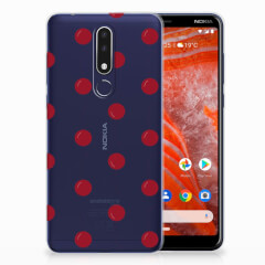 Nokia 3.1 Plus Siliconen Case Cherries