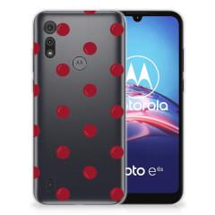 Motorola Moto E6s Siliconen Case Cherries