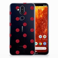 Nokia 8.1 Siliconen Case Cherries