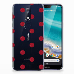 Nokia 7.1 Siliconen Case Cherries