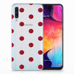 Samsung Galaxy A50 Siliconen Case Cherries