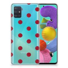Samsung Galaxy A51 Siliconen Case Cherries