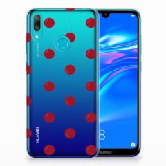 Huawei Y7 2019 Siliconen Case Cherries