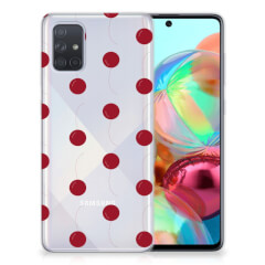Samsung Galaxy A71 Siliconen Case Cherries