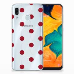 Samsung Galaxy A30 Siliconen Case Cherries