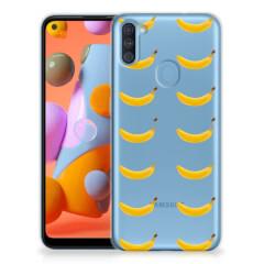 Samsung Galaxy A11   M11 Siliconen Case Banana