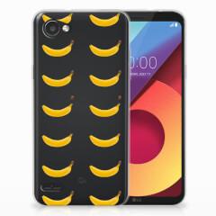 LG Q6   LG Q6 Plus Siliconen Case Banana