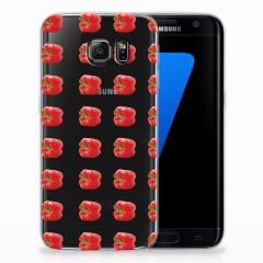 Samsung Galaxy S7 Edge Siliconen Case Paprika Red
