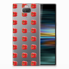 Sony Xperia 10 Plus Siliconen Case Paprika Red