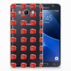 Samsung Galaxy J7 2016 Siliconen Case Paprika Red