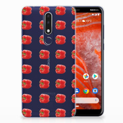 Nokia 3.1 Plus Siliconen Case Paprika Red