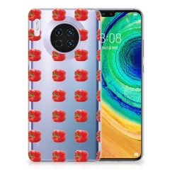 Huawei Mate 30 Siliconen Case Paprika Red