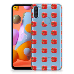 Samsung Galaxy A11   M11 Siliconen Case Paprika Red