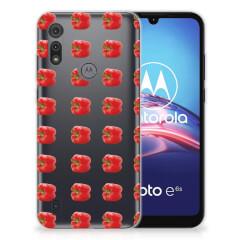 Motorola Moto E6s Siliconen Case Paprika Red