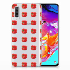 Samsung Galaxy A70 Siliconen Case Paprika Red