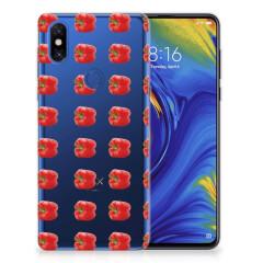 Xiaomi Mi Mix 3 Siliconen Case Paprika Red