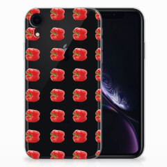 Apple iPhone Xr Siliconen Case Paprika Red
