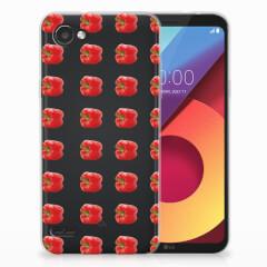 LG Q6   LG Q6 Plus Siliconen Case Paprika Red