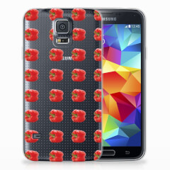 Samsung Galaxy S5 Siliconen Case Paprika Red