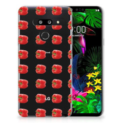 LG G8 Thinq Siliconen Case Paprika Red