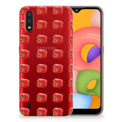 Samsung Galaxy A01 Siliconen Case Paprika Red