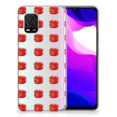 Xiaomi Mi 10 Lite Siliconen Case Paprika Red